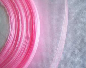 Pale pink organza Ribbon, width 10 mm (O-004)