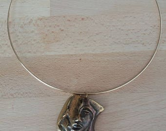 Rigid Choker with bronze medallion