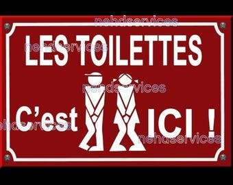 The toilet street sign