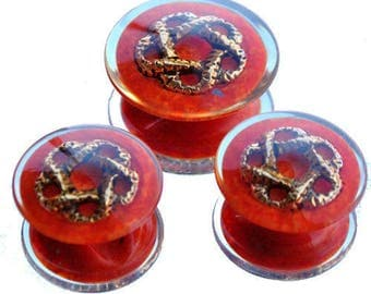 Resin inlaid patterns effect transparent buttons