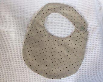 Oval shaped polka dots bib
