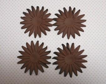 2 x brown paper flower