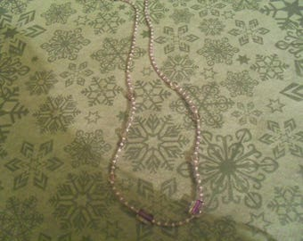 beautiful necklace unique and original purple and white