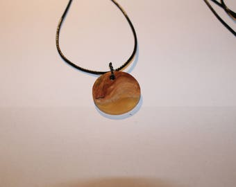 Hand made pendant wood and resin