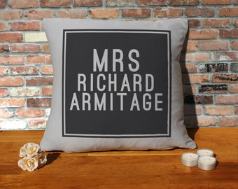 Richard Armitage Pillow Cushion - 16x16in - Grey
