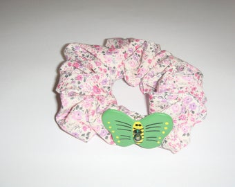 fabric hair scrunchie liberty Butterfly pattern