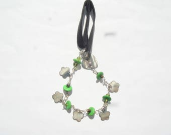 Necklace Green Pearl shell beads