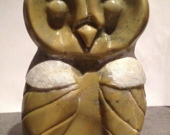 owls soapstone stone SOAP stone sculpture