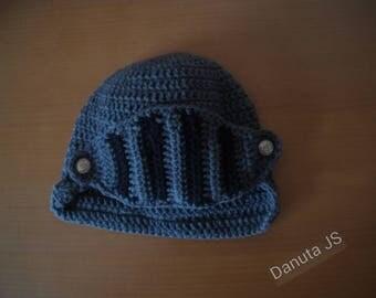 Spartan Hat handmade crochet with acrylic yarn