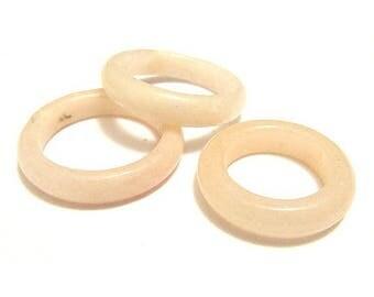 Ring natural stone - beige agate Bangle