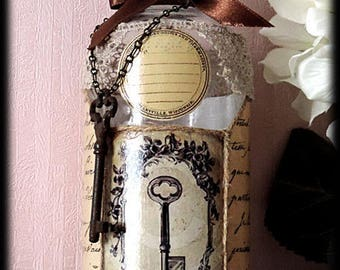 "Retro style carafe ""key to the mysteries"""