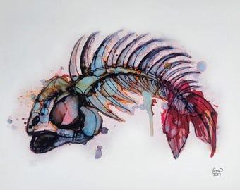 Fishbone print
