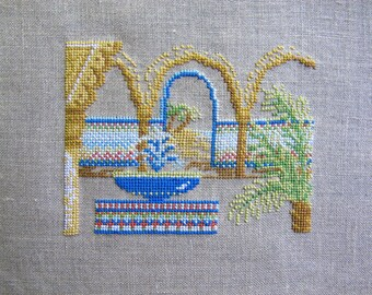 Arabic patio cross-stitch Embroidery