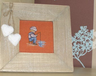 Child embroidery frame