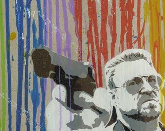 Portrait of street art, The Big Lebowski Walter