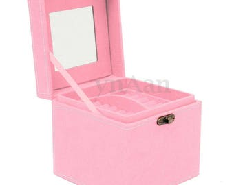 1 box display gem 12 x 12 cm pink
