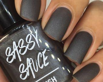 Mattey Black Indie nail polish