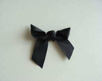 applique bow fancy Ribbon black 5/4.5 cm