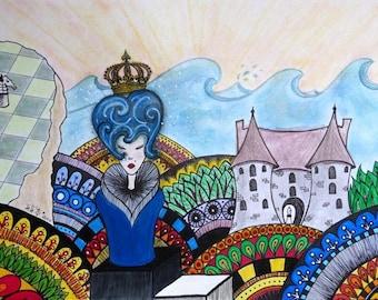"Postcard - ""La Reine"" - Lili'$ 2010"