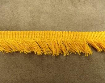 SMALL fringe polyester - 2 cm - ORANGE