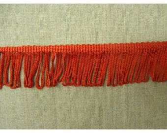 small - 4 cm - red polyester fringe