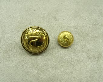 BUTTONS military anchor gold 13 mm