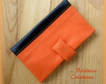 """Checkbook """"joyful color"""" orange"""