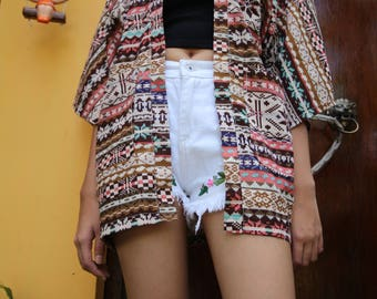 Indian Boho Style Kimono - Pink Kimono Jacket  - Festival Clothing - Hippie  Jacket-Light Jacket-Boho Kimono Cardigan