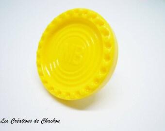 Power 4 baroque ring yellow ring