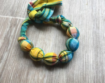 Bracelet little girl blue madras