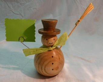 Wood - Turning handcrafted snowman