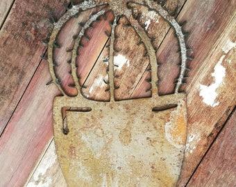 Rusty cactus - boho - Hippie metal art