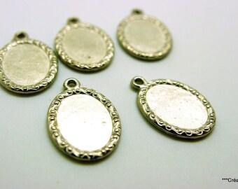 10 pendants for cabochon 18 x 13 mm