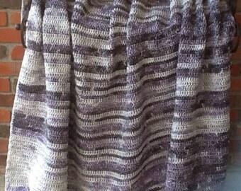 Crochet blanket shades of purple