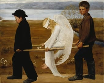 Cross Stitch - Wounded Angel by Simberg