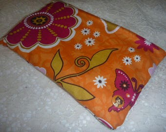 Makeup pouch flowers and butterflies was