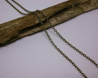 1 M chain antique bronze chain 3 x 2, 5mm