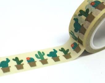 Masking tape washi tape masking tape repositionable cactus