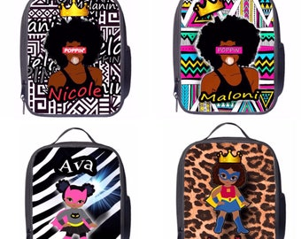 Black Girl Magic Superhero Melanin Poppin Lunch Bags