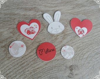 theme table confetti Bunny