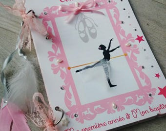 Pink dancer theme guest book