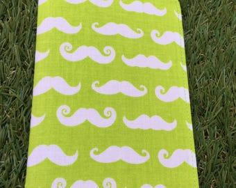 Note book / notebook green mustache
