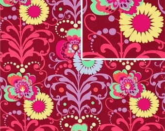 DISCOUNTED Amy Butler Paradise Garden 1/2 yard Wine in Love Collection