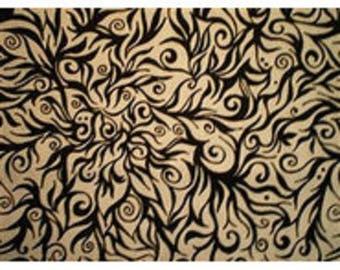 fabric patchwork black susr arabesques ref140603 white