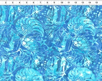 batik patchwork fabric Indonesian gbc reef