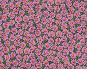 fabric patchwork ref794p pink daisies