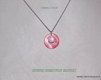 """Pink jewelery including necklace and earrings """"nails"""""""