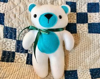 10 inch stuffed bear, plushie, stuffie, soft toy, baby gift, baby shower gift, stuffed bear