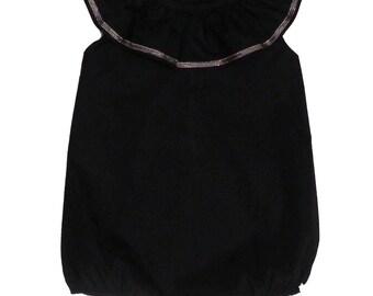 Romper / baby black suit