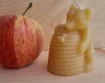 Honey Bandit Pure Beeswax Candle~ Sweet Aroma of Honey ~ Kids Love it!